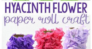 Paper Roll Hyacinth Flower Craft for Kids