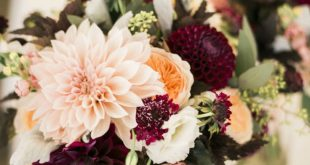 Urban Gold & Purple Fall Wedding