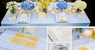 25+ Pretty Blue And Yellow Flowers For Table Wedding Decoration