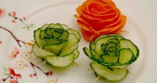 Learn How to make Vegetable Carving - Flowers Cucumber with the simple step by s...
