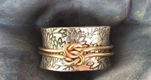 Lovers Knot Spinner Ring, Meditation Ring