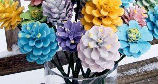 """Tannenzapfen """"Blumen"""", Frühling, Ostern. Hübsche Pastelle"""