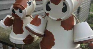Painted Clay Pot Critters Anleitung zum Herstellen von Pflanzgefäßen