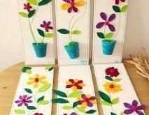Tavaszváró dekoráció (sablonokkal)