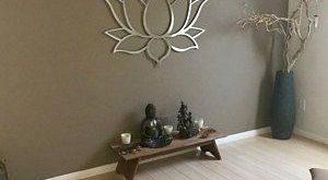 XL Om Lotus Flower Metallwand Kunst extra große Metallwand Skulptur moderne Aum...