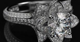 1.75 Ct Round Diamond 14k White Gold Over Engagement Lotus Flower Wedding Ring #...