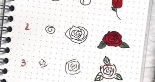 17 Amazing Step By Step Flower Doodles For Bujo Addicts