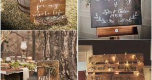 18 Rustic Budget-Friendly Rustic Wedding Signs Ideas Rustic wedding signs are de...