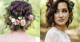 5 wunderschöne Hochzeit Frisuren mit Blumenkrone