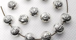 50pcs Double Sided Antique Silver Lotus Beads, Lotus Flower Beads, Nepalese Beads, Buddhism Beads , Yoga Jewelry, 8x7 mm, Wholesale Beads