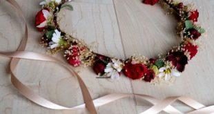 Burgundy red Wedding Hair accessories Flower Crown Wine Vineyard Bridal party dried silk floral accessories little girl halo destination