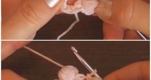 Crochet Easy Puff Flowers