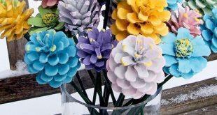 Diese Pine Cone Flowers Craft ist eine einfache DIY und du gehst ... #craft #di....