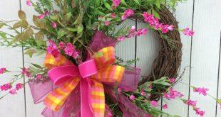 Double door wreath Wild flower Wreath Mothers Day by Keleas