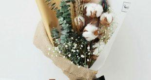 Dried cotton flower bouquet. #trockenblumen