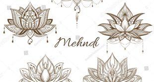 Filigree Lotus Flower Vector Handdrawn Illustration Stock-Vektorgrafik (Lizenzfr...