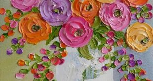 Fun bright colors of Ranunculus flowers to brighten your day!!! This is a small ...
