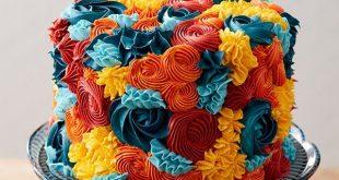 Herbstblumen Buttercreme Kuchen, Kreieren Sie mit diesem Buttercremekuchen mit H...