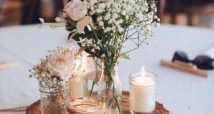 Hochzeitstischdeko Ideen - Rustikale Dekoration - #dekoration #Hochzeitstischdek