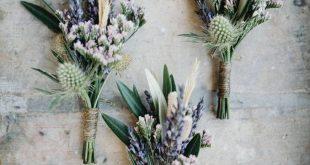 Lavender Boutonnierre Wildflower Boutonnierre