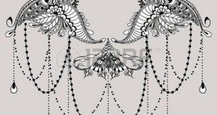 Lotus Flower Tattoo Designs: Vorlage für Tattoo-Design mit Mehndi-Elementen. Fl … #tattoos