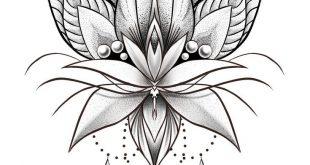 Mandala Dotwork Lotus Artwork by Adison #Tattoos #Tattoosquotes #flowerTattoos #Tattoosfonts #watercolorTattoos #Ale