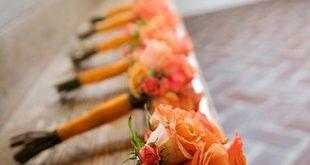 #Orange #Bouquet #Autumn #Fall #Wedding … Wedding