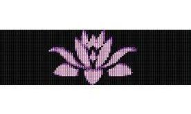 PURPLE LOTUS FLOWER - beading cuff bracelet pattern for loom (buy any 2 patterns...