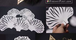 Paper flowers crafts, FREE templates and picture tutorial