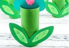 Papierrolle Frühlingsblumen Handwerk >> Papierhandtuch (Toilettenpapierrolle) ist all …
