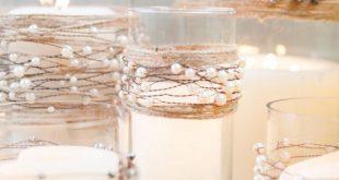 Perlen auf Draht Girlande   Rustikale Hochzeit   Strand Hochzeit   Rustikale Hochzeit Herzstück