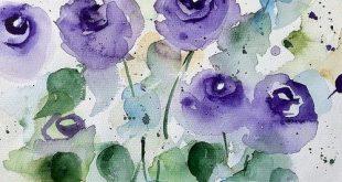 Purple Flowers Garden Greeting Card for Sale by Britta Zehm