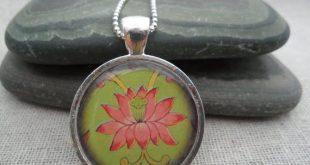 SALE - Lotus Flower Pendant - Lotus Flower Necklace - Pink Flower Jewelry - Lotus Jewelry Gifts