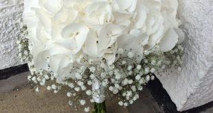 White Hydrangea and Gypsophila Bouquet by Add Style UK