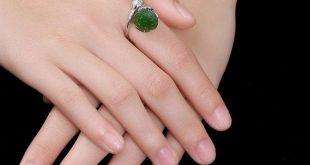 lotus flower ring-Green Jasper Open Ring-925 Silver Open Ring-Stackable Rings-lotus flower gift-Wife Anniversary-Girlfriend Gift-hippie